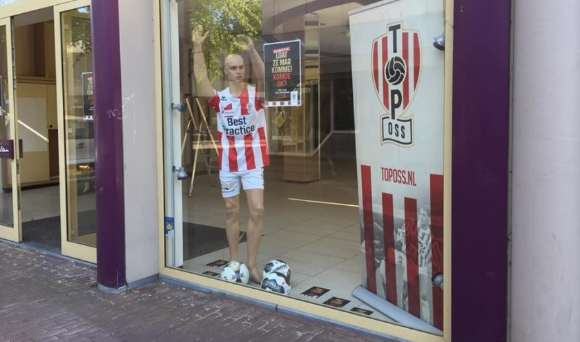 TOP Oss krijgt tijdelijk eigen etalage in Osse centrum. (Foto: Facebook TOP Oss)