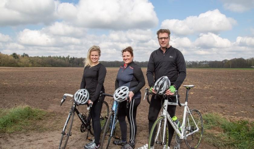 Aukje Weerts, Stefan en Angela van Bakel.