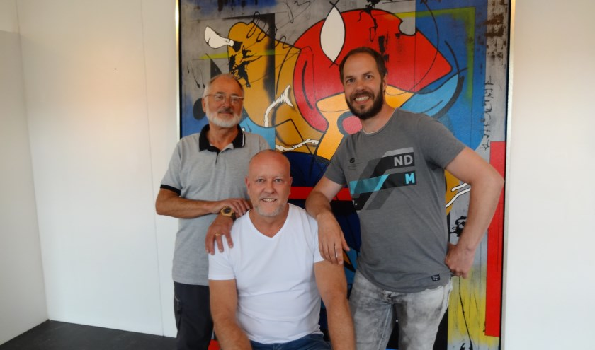 V.l.n.r.: Frans X Goossens, Patrick van Haren en Christian van Hedel (foto: Ankh van Burk)