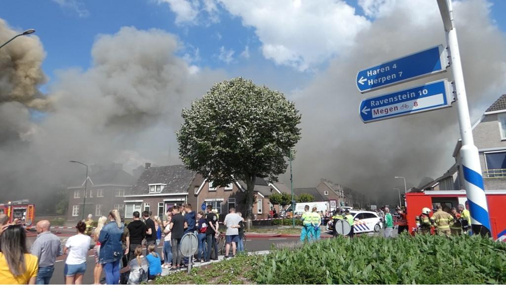 Brand in Berghem. (Foto: Thomas)  © 112 Brabantnieuws