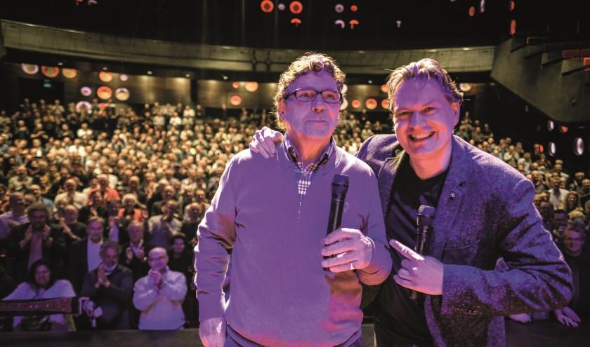 Eddy van der Ley en Willem van Hanegem. (Foto: Eric Brinkhorst)