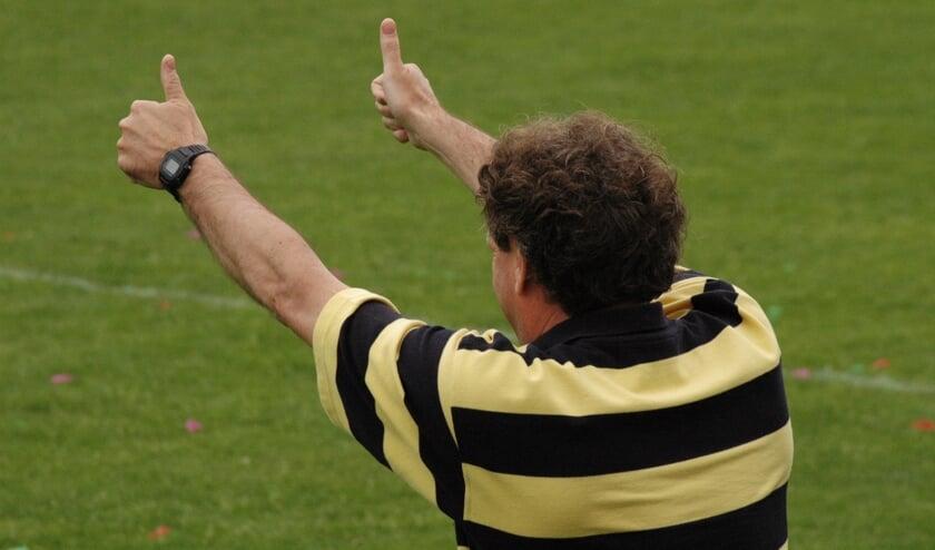 Pieter Tuns in zijn tijd als trainer van Blauw Geel'38
