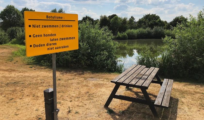 Waterschap Aa en Maas trof vorig jaar botulisme aan in de visvijver op Het Ven in Veghel.