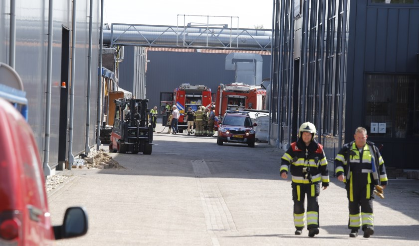 Een brand bij een houtbedrijf in Mill was snel onder controle.