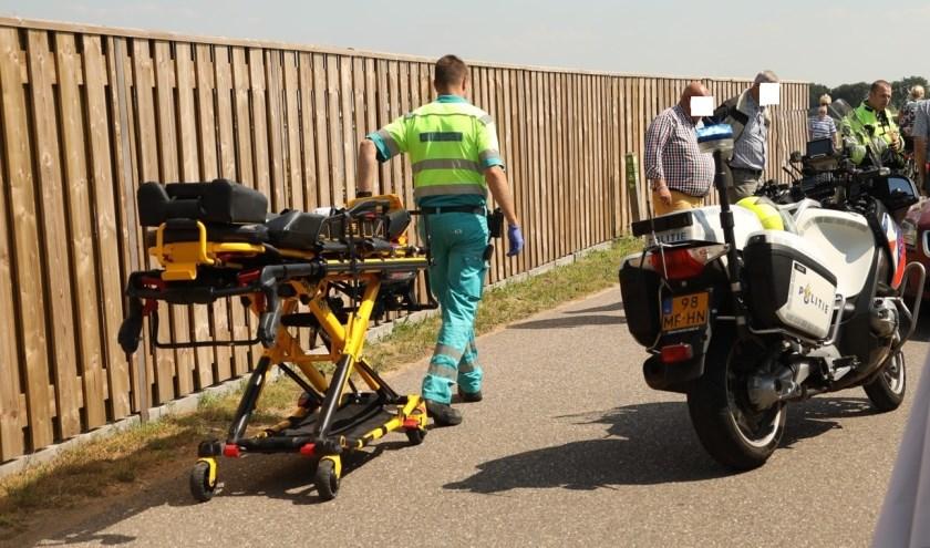 Gewonde bij ongeval in Lithoijen. (Foto: Gabor Heeres / Foto Mallo)