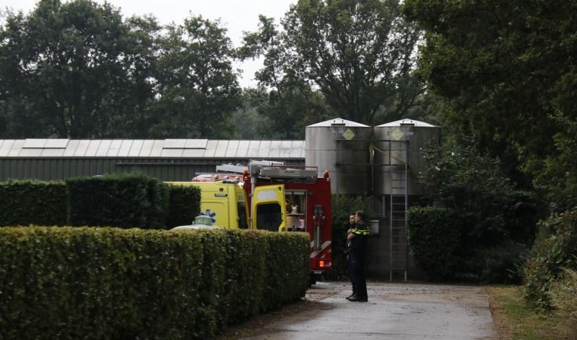 Bij een schuur in Ledeacker is vanavond brand geweest.