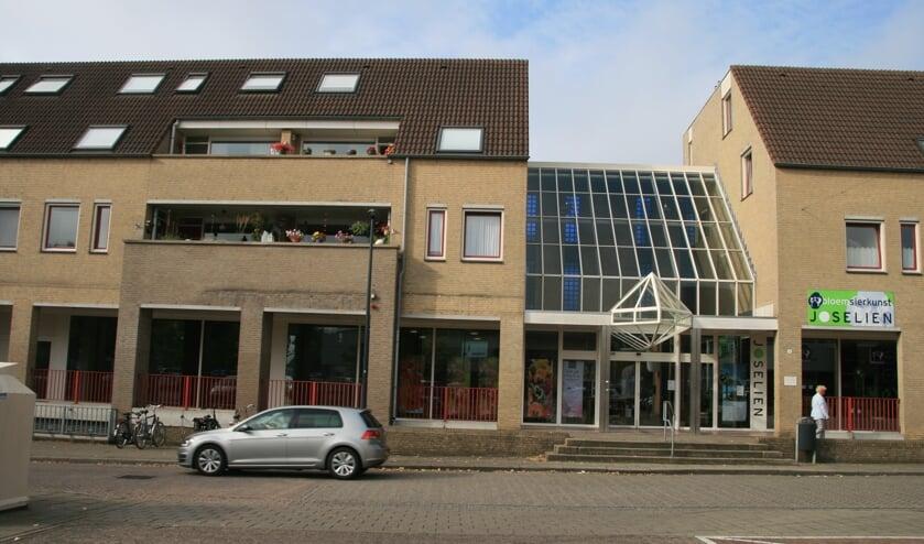 De huidige entree van de supermarkt aan de Hoogkoor in Boxmeer.