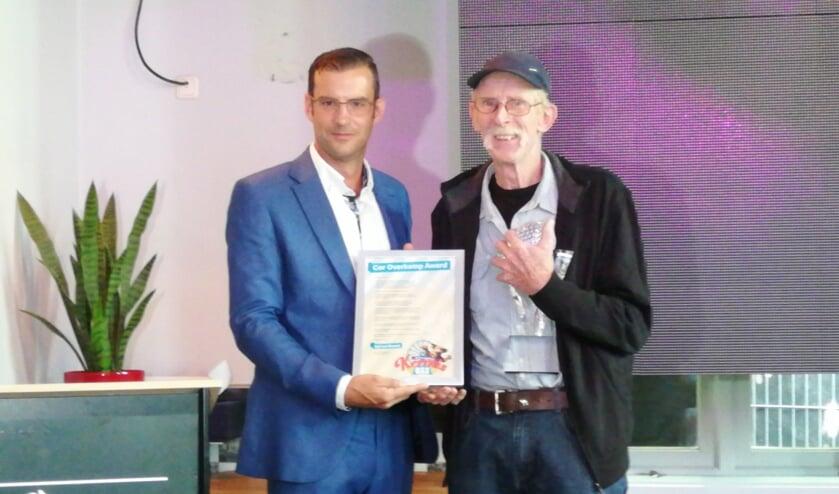 Wethouder Thijs van Kessel en Sjef van Boekel.