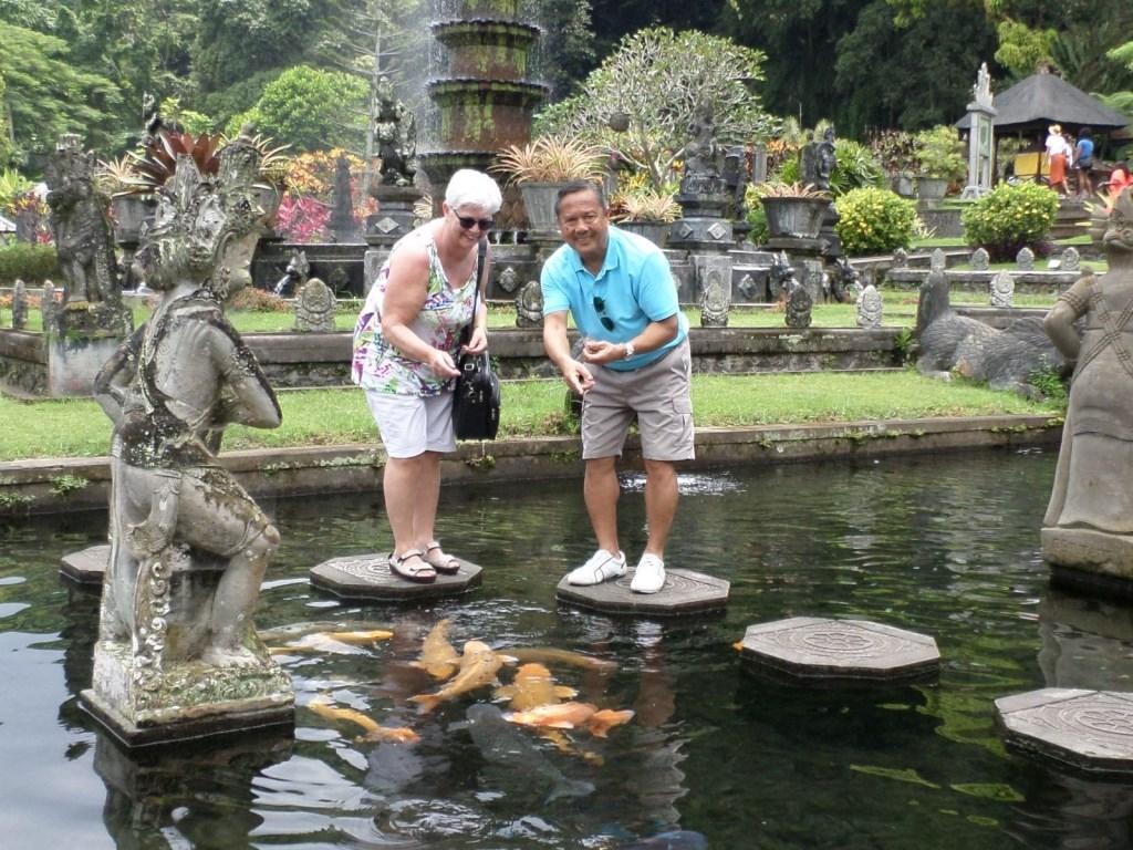 Ans Janssen bezocht het waterpaleis in Bali © Kliknieuws Uden