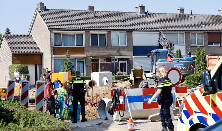 Man gewond in Cuijk na raken stroomkabel.