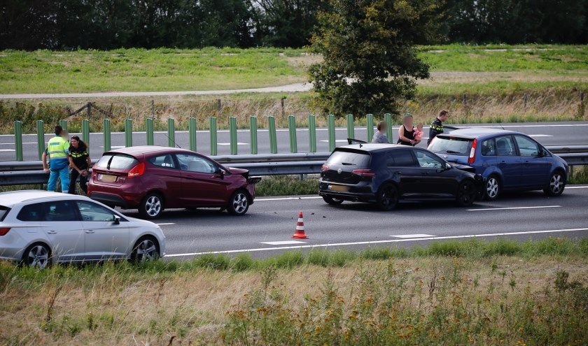 Gewonde bij ongeval op de A73 nabij Beers.