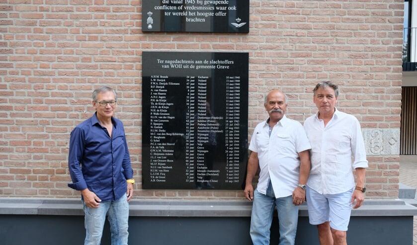 Fred Hulsman, Louis Lefeu en Charley Woesthoff van het Indië