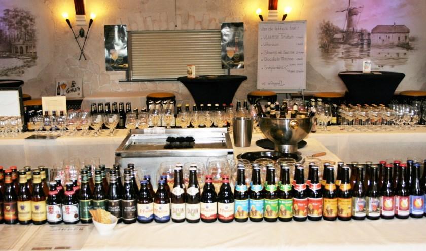 Tijdens het Belgisch Bier Festival zijn allerlei bieren te proeven.