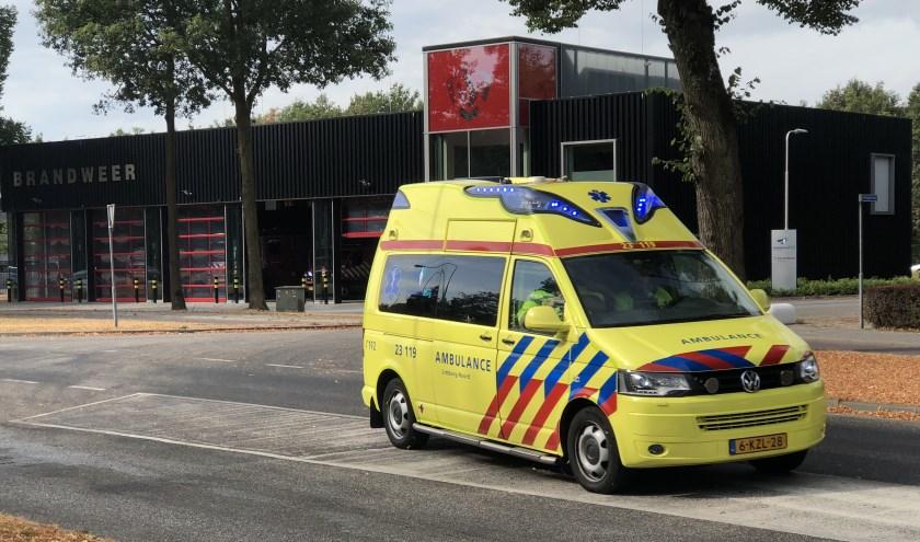 De ambulance op de laatste dag voor het vertrek uit Gennep.