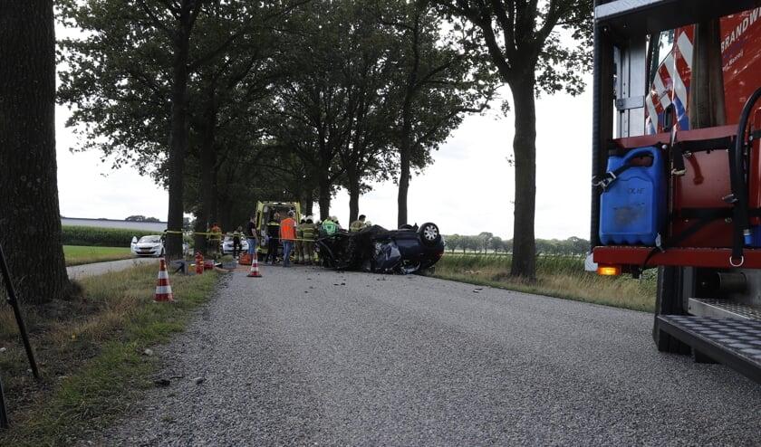 Vader en kind gewond bij aanrijding in Landhorst.