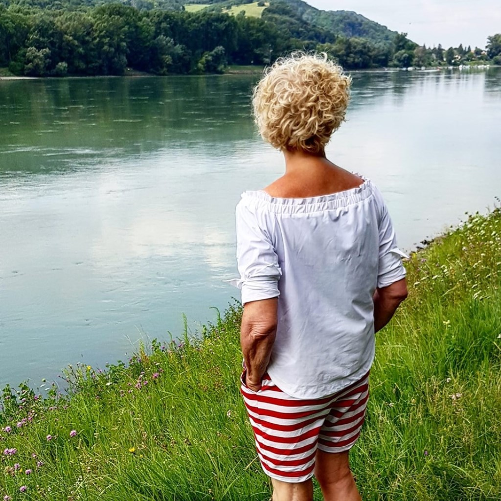 Hier zie je Joke Emonds aan de Donau. © Kliknieuws Uden