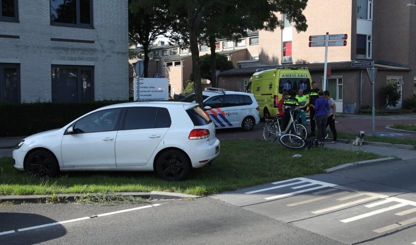 Ongeval op de Wethouder van Eschstraat. (Foto: Gabor Heeres / Foto Mallo)