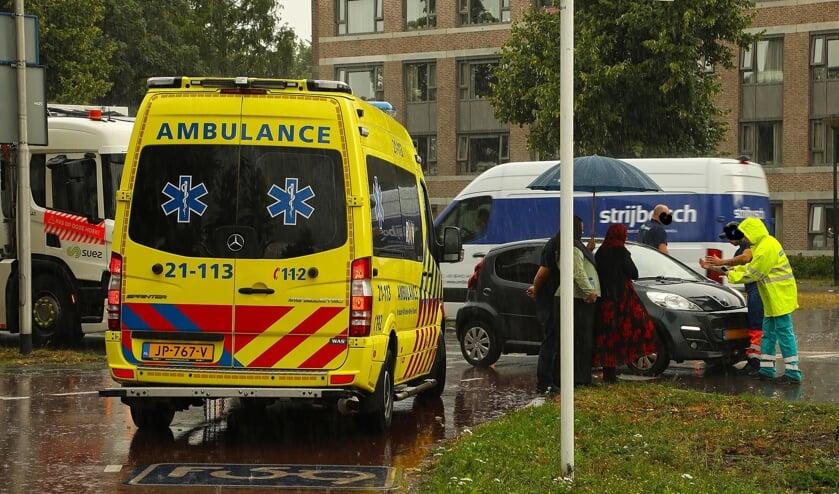 Opnieuw ongeval op de Euterpelaan. (Foto: Gabor Heeres / Foto Mallo)