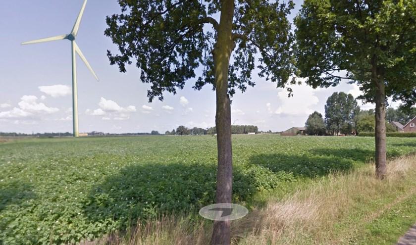 Een denkbeeldige windmolen op Dorshout (Foto: Maarten van Lankvelt).