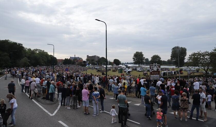 Ballonfestival in Grave werd op het laatste moment afgelast.