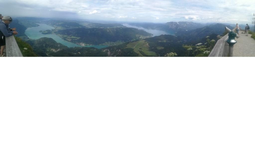 Een indrukwekkende panoramafoto van Bjorn Van de Beeten, gemaakt in  Oostenrijk, Salzkammergut. © Kliknieuws Uden
