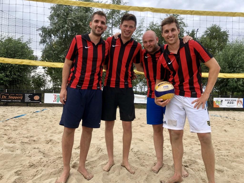 Gerke van den Akker, Thijs Jonkers, Maarten Klopstra en Laurent Smits waren afgelopen zondag de sterkste.   © Kliknieuws Veghel
