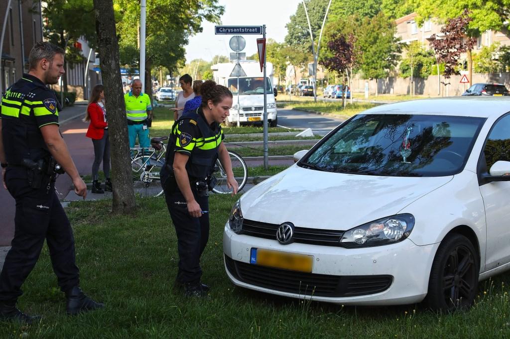 Ongeval op de Wethouder van Eschstraat. (Foto: Gabor Heeres / Foto Mallo)  © Kliknieuws Oss
