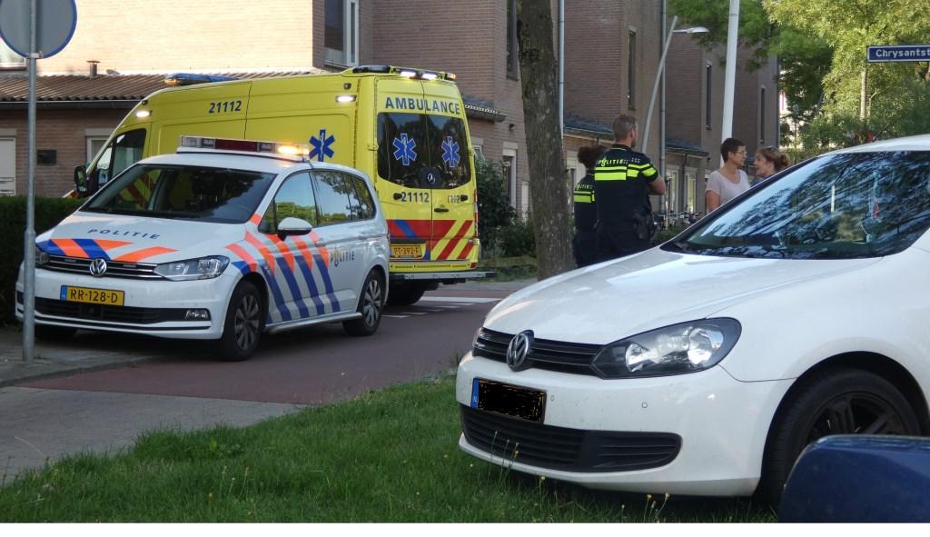 Ongeval op de Wethouder van Eschstraat. (Foto: Thomas)  © Kliknieuws Oss