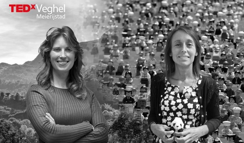 Powervrouwen Sabine Boogaard en Nelleke van der Puil spreken tijdens TEDxVeghel.