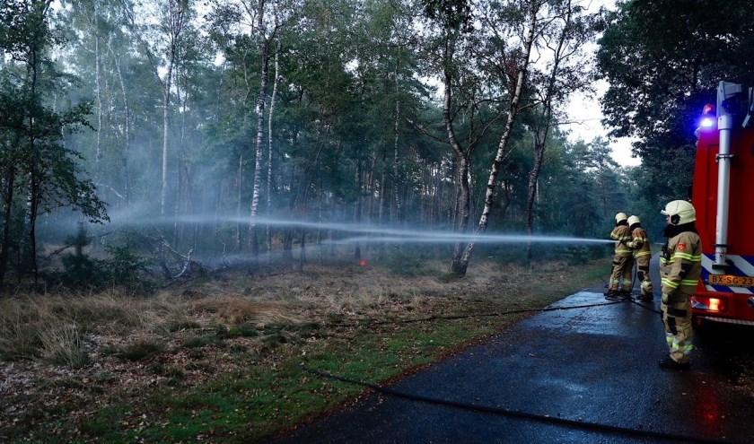 Oefening van natuurbrandbestrijding in Sint Anthonis.