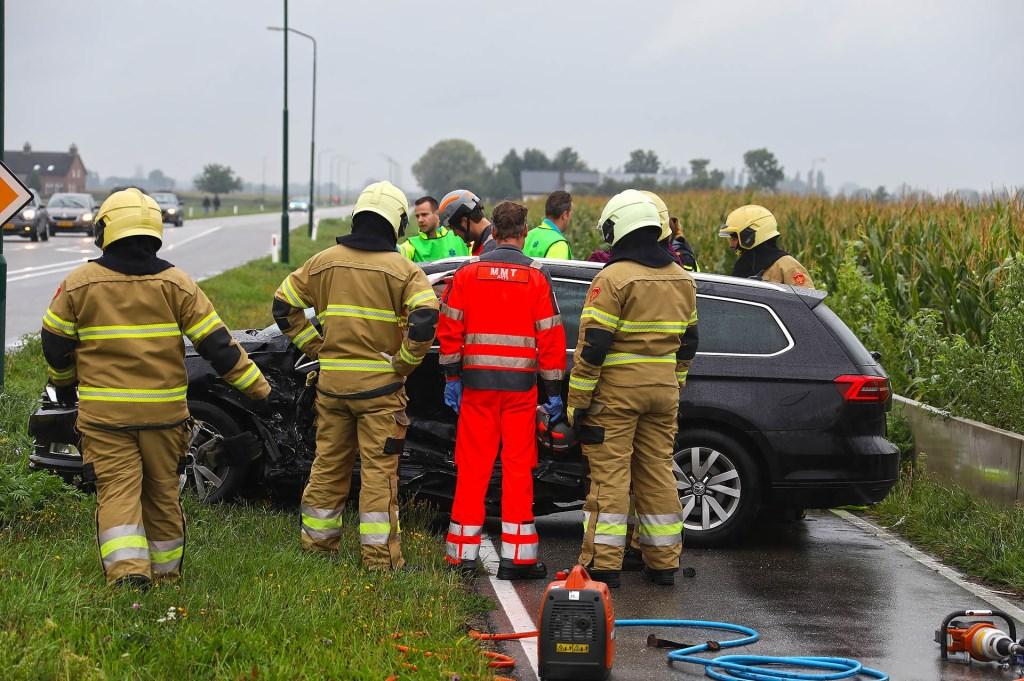 Ongeval op de kruising John F. Kennedybaan / Frankenbeemdweg. (Foto: Gabor Heeres / Foto Mallo) Foto: Gabor Heeres © 112 Brabantnieuws