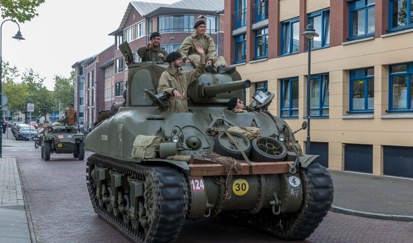 Afgelopen woensdagmiddag waren er ook al militaire voertuigen te zien in het Udense centrum.