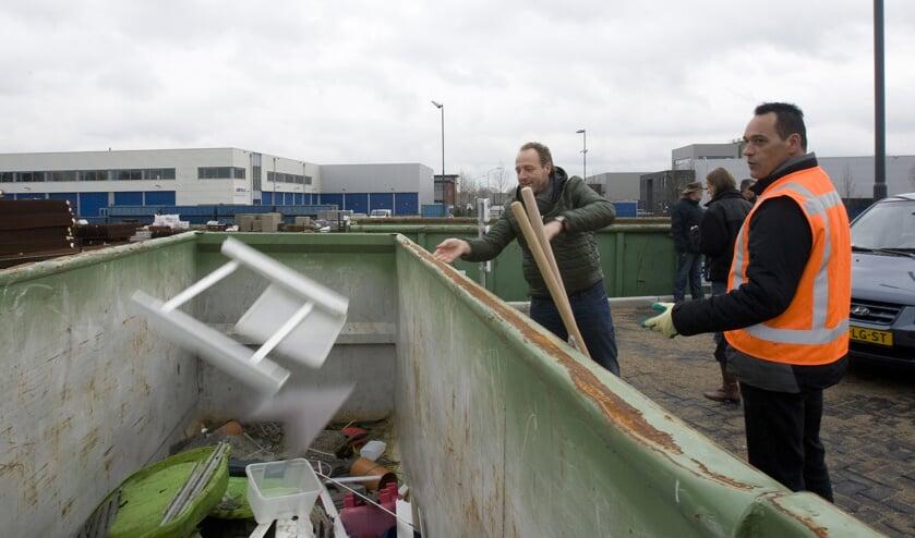 De Milieustraat in Haps gaat een weekje dicht.