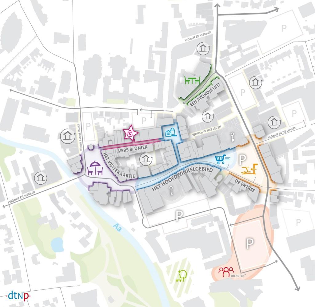 Veghel-centrum Deelgebiedenkaart  © Kliknieuws Veghel