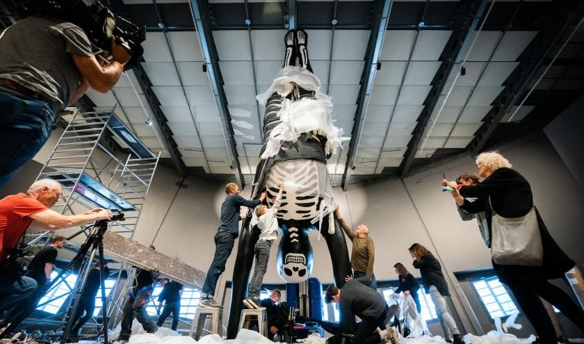 Blowups maakte een metershoog beeld voor NEMO Amsterdam.
