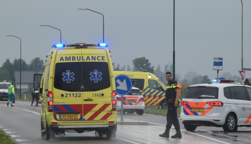 Ongeval op de kruising John F. Kennedybaan / Frankenbeemdweg. (Foto: Thomas)  © 112 Brabantnieuws