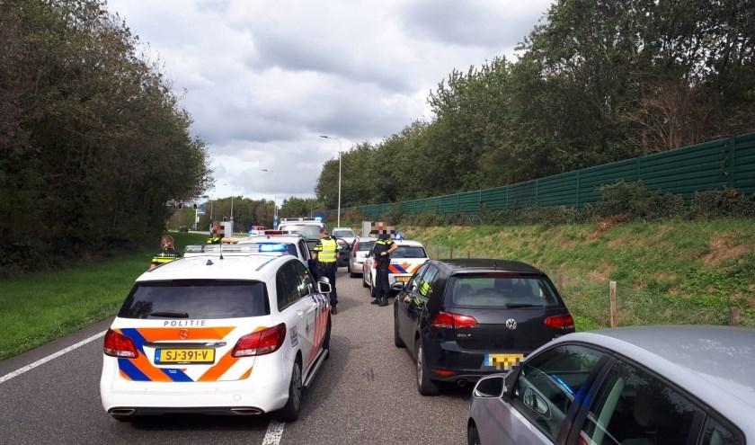 Dieven klemgereden op A73 bij Malden.