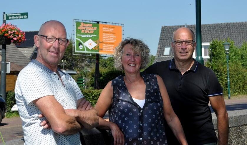 V.l.n.r. Jan van de Weijer, Gertie Verberk en Jos Rutten.