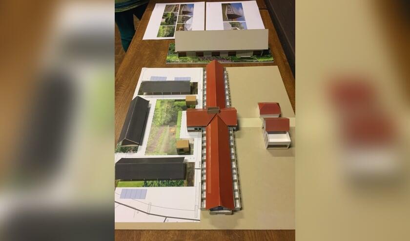 Een maquette van Hof Lindebeek, waar de woongebouwen van de Woongemeenschap deel van gaan uitmaken.