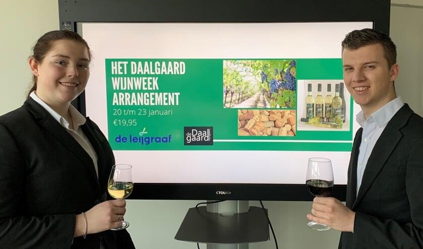 Studenten De Leijgraaf houden wijn-spijsweek met De Daalgaard in Cuijk.