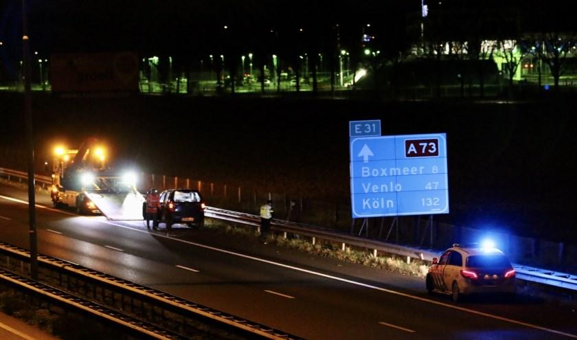Ongeluk op A73 bij Haps.