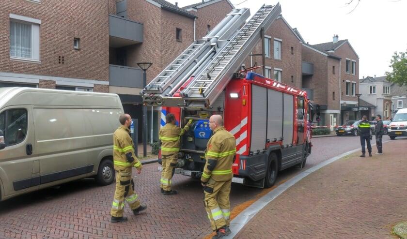 Deel Kerkstraat tijdelijk afgesloten vanwege gaslek. (Foto: Gabor Heeres, Foto Mallo)
