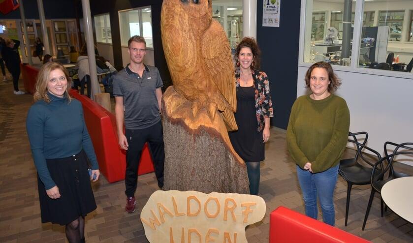 <p>Een deel van de werkgroep Waldorf Uden: Yvette, Alwin, Joyce en Esther. (foto: Henk Lunenburg)</p>