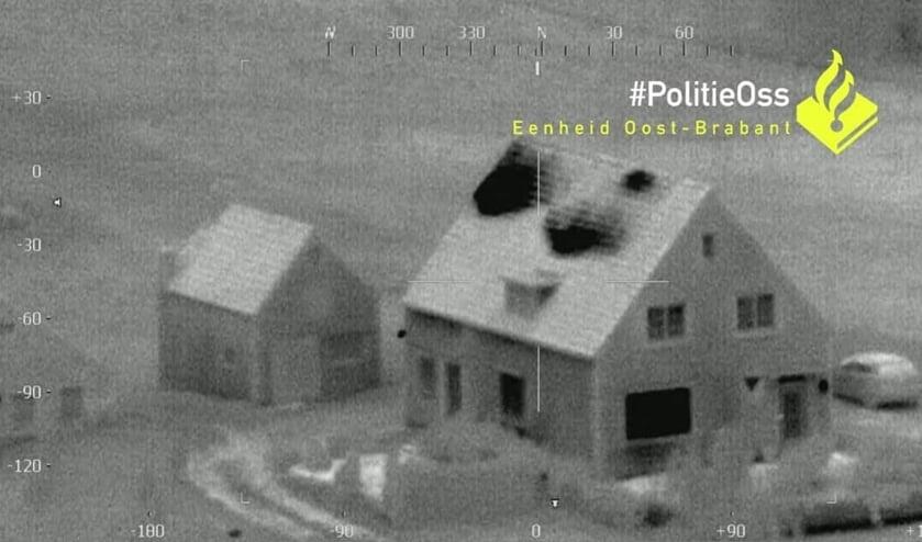 <p>Het huis in Maren-Kessel. (Foto: Facebook politie Oss)</p>