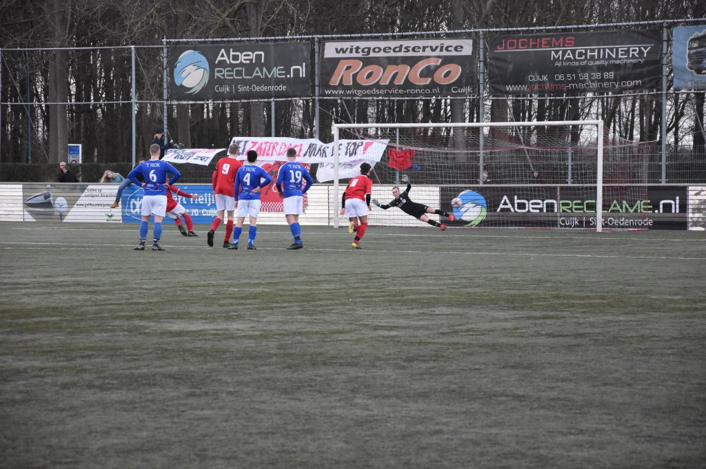 Ali Özdimir scoorde vanaf elf meter de enige goal van de middag. Foto: Voetbal-shoot.nl/Chanel Willems © Kliknieuws De Maas Driehoek
