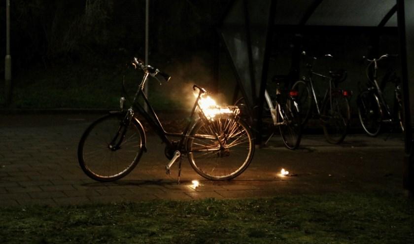 Fiets in brand in Gennep