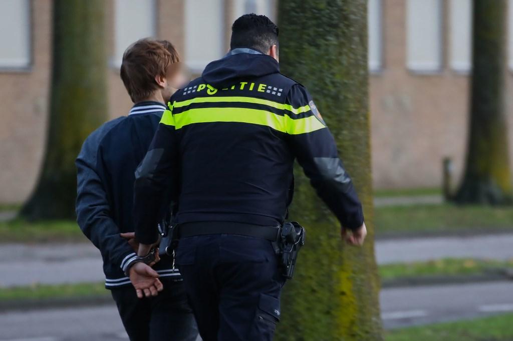 De Pool wordt gearresteerd. (Foto: Gabor Heeres, Foto Mallo)  © Kliknieuws Oss