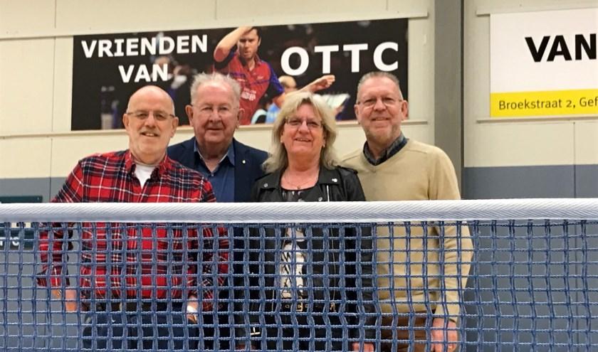Joop Meijer (67), Nico van Erp (83), Ria Ceelen (66) en Adri van der Heijden (67).