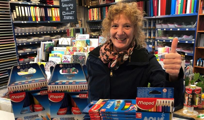 Jacqueline van Creij is helemaal in haar nopjes met het mooie initiatief van Boekhandel Schellen.
