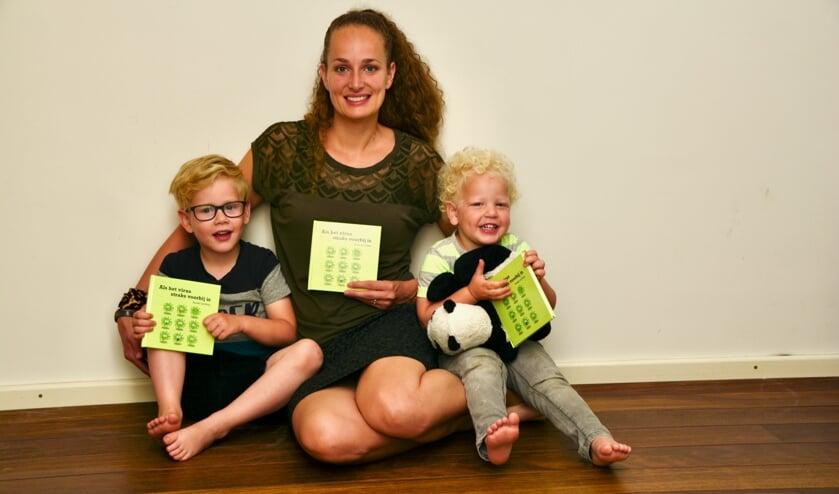 Renske de Kleijn en haar kinderen.